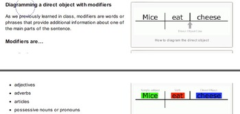 Identifying and Diagramming the Direct Object in the English Language