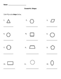 Identifying and Drawing Geometric Shapes Worksheet