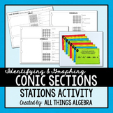 Identifying and Graphing Conic Sections Stations Activity
