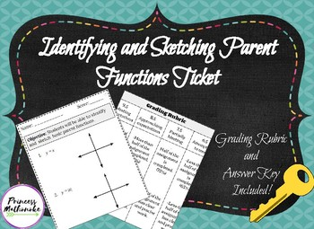 Identifying and Graphing Parent Functions Ticket