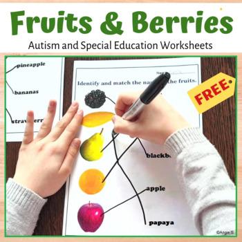 Identifying and Matching Fruits Worksheet