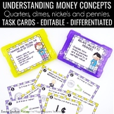 Identifying and Naming Coins Task Cards