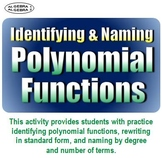 Identifying and Naming Polynomial Functions
