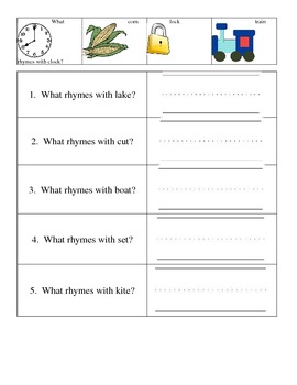 Identifying and Producing Rhyming Words