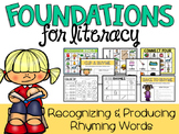 Rhyming Words Activities and Practice Pages (Identifying and Producing)