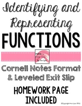 Identifying and Representing Functions Notes/Homework 8.F.