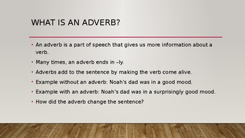 Identifying and Using Adverbs