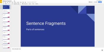 Identifying and Correcting Sentence Fragments