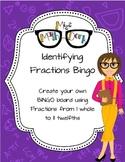 Identifying fraction Bingo!