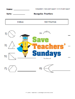 Identifying fractions lesson plans, worksheets and more