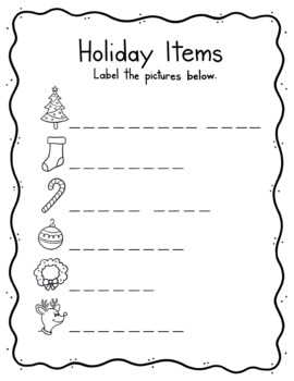 Identifying/labeling Christmas/Winter Items
