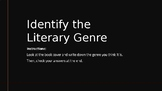 Identifying literary genres: book covers