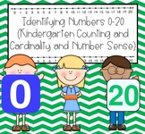 Identifying numbers 0-20 (Counting and Cardinality and Numbers Base Ten)
