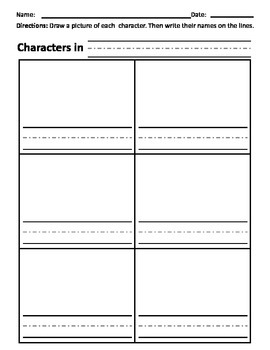 Identifying or Tracking Characters in a Story