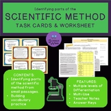 Identifying parts of the Scientific Method- Differentiated