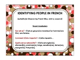 Identifying people, quiz quiz trade, fan & pick, speaking in French