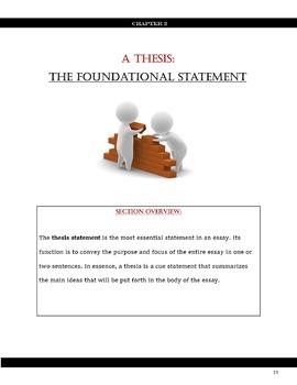 Identifying persuasive thesis statements