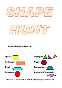 Identifying shapes in the environment