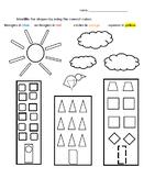 Identifying shapes worksheet