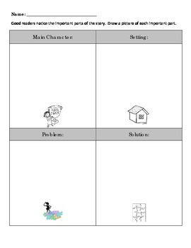 Identifying story elements graphic organizer