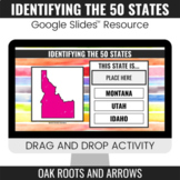Identifying the 50 States : Google Slides™ Drag and Drop Activity