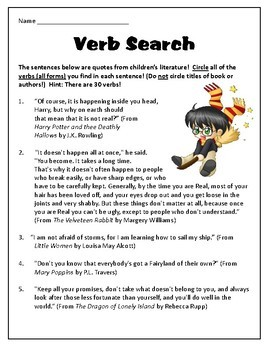 Identifying the 8 Parts of Speech in Quotes from Children's Literature