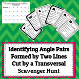 Identifying the Angle Pairs Formed When Two Lines are Cut by a Transversal