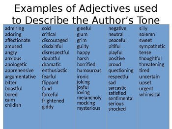 Identifying the Author's Tone in Songs and Poetry
