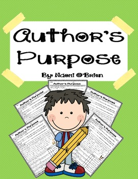 Identifying the Author's Purpose