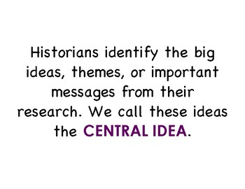 Identifying the Central Idea of a Nonfiction Text