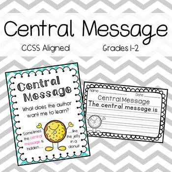 Identifying the Central Message Worksheets Pack