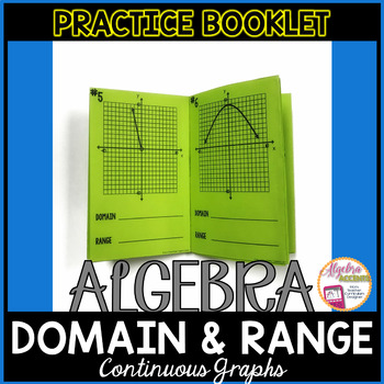 Identifying the Domain and Range (Continuous Graphs) Practice Booklet