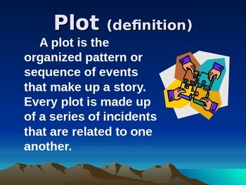 Identifying the Elements of a Plot Diagram Introduction PowerPoint