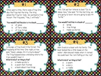 Identifying the Genre Task Card Set