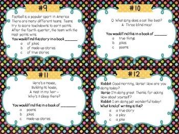 Genres Task Cards