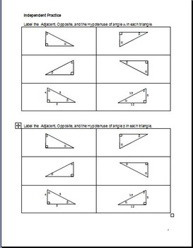 Identifying the Hypotenuse, Adjacent, and Opposite