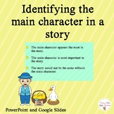 Identifying the Main Character in a Story | Distance Learning
