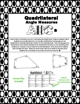Identifying the Missing Angle in a Quadrilateral