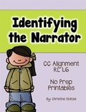 Identifying the Narrator {No Prep Printables}