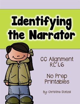 Identifying the Narrator {No Prep Printables}