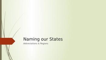 Identifying the Regions & States