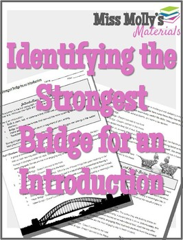 Identifying the Strongest Bridge for an Introduction - No Red Ink Aligned
