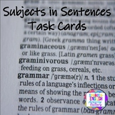 Subject in a Sentence Task Cards