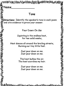 Identifying the Tone In Poetry