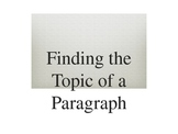 Identifying the Topic of a Paragraph Powerpoint