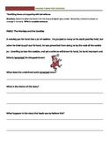 Identifying theme and supporting with text evidence worksheet