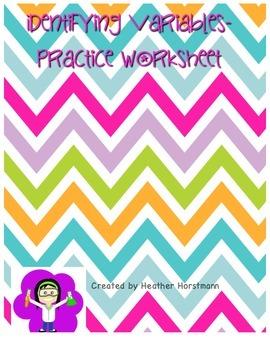 Identifying variables practice worksheet