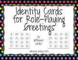 Identity Cards for Role-Playing Greetings in Spanish | Los Saludos