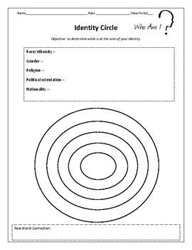 Identity Circle Activity