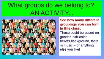 Identity - Classroom Guidance Lesson & Activities